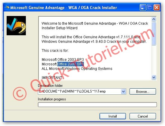 OGA 2.0.48 & Windows Genuine Advantage 1.9.40 Cracked , картинка номер.